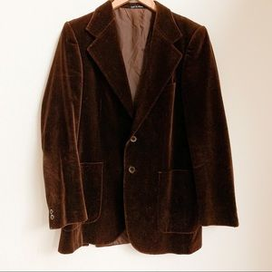 Men's Vintage Brown Velvet YSL Blazer
